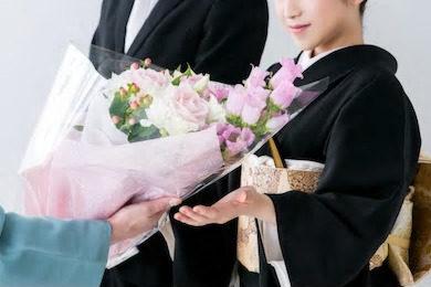 親へ花束の写真
