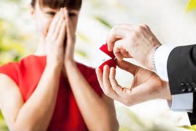 女性へのプロポーズ