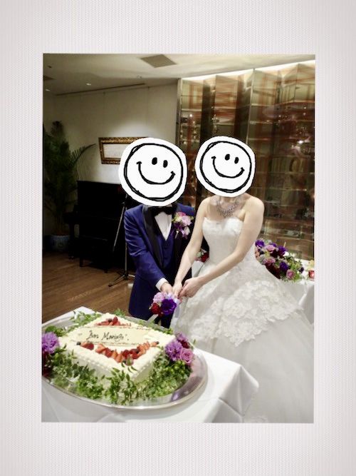 新郎新婦ケーキ