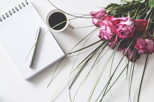 薔薇 コーヒー ノート